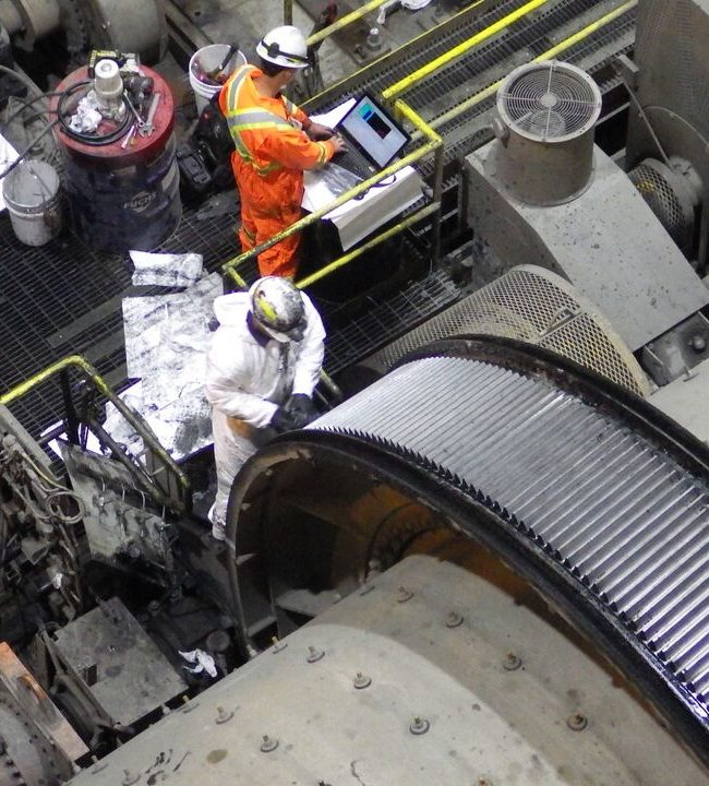 Mill Girth Gear Inspection